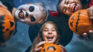 Halloween Children with Pumpkins