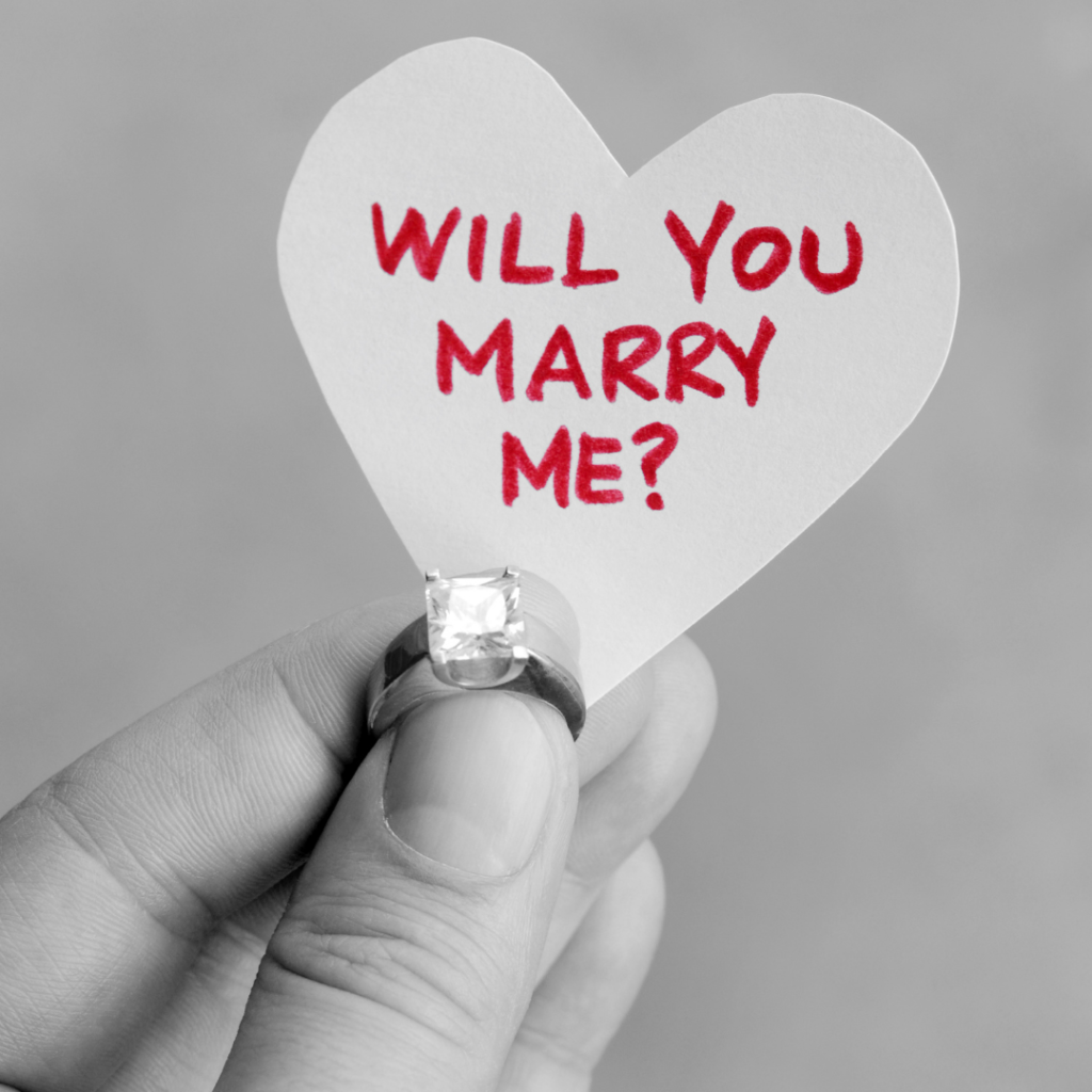 Will you marry me message
