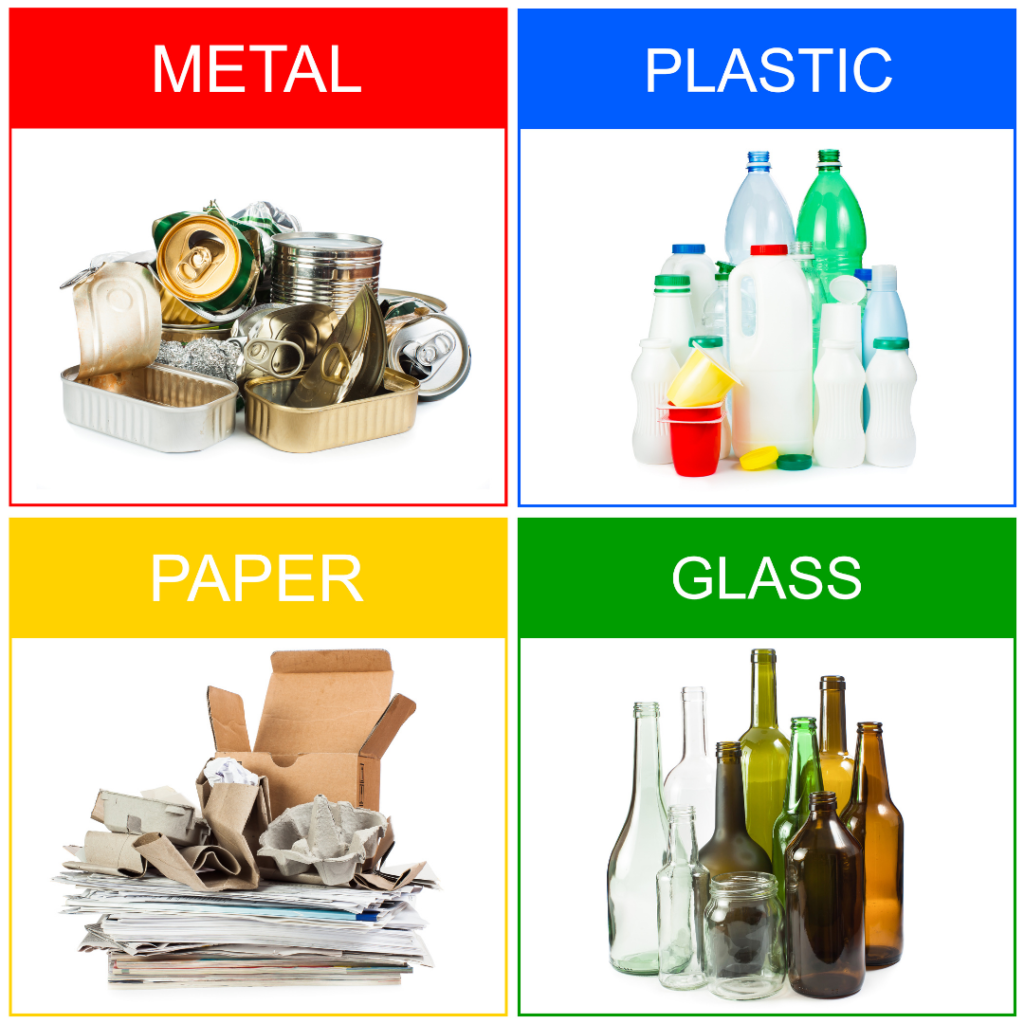 Recycling categories