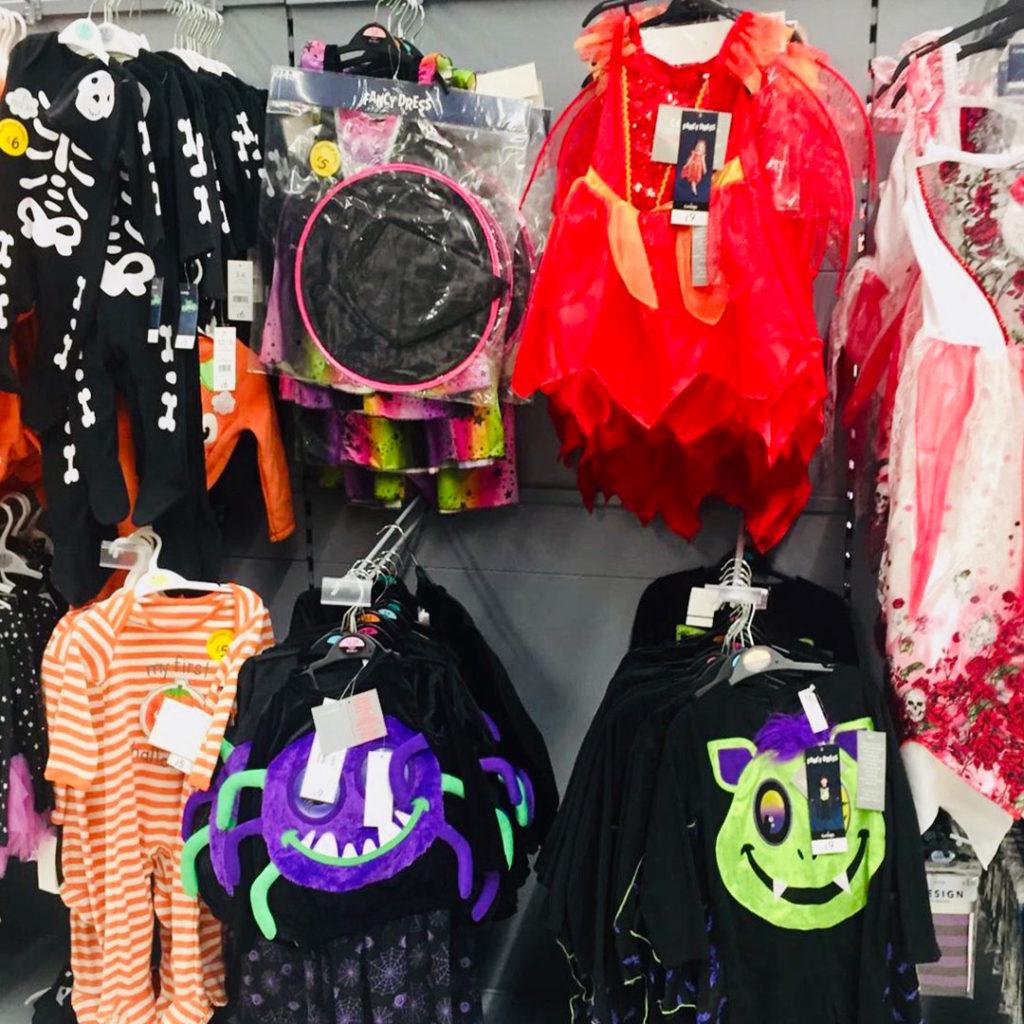 Halloween costumes in shop